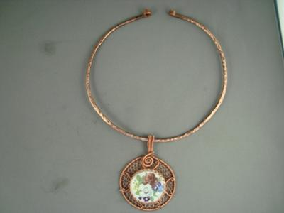 3 Copper Wire Pendants