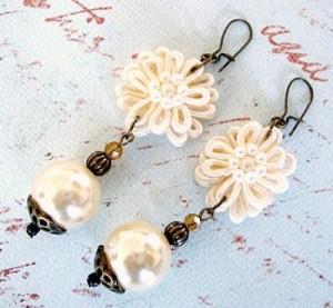 413 Flower Applique Earrings