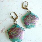512 Floran Resin Focal Earrings
