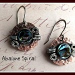 Abalone Spiral Earrings
