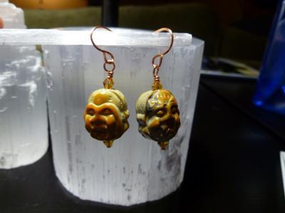 Agate Buddha Earrings