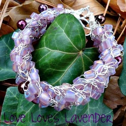 Angela Jones - love loves lavender bracelet