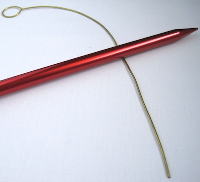 use knitting needle as a mandrel