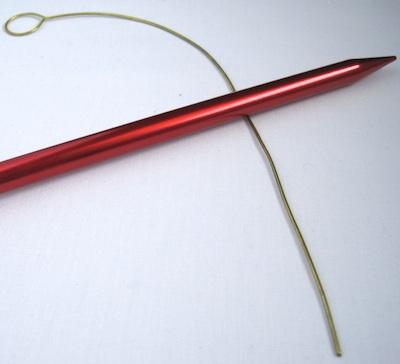 use knitting needle as a mandrel
