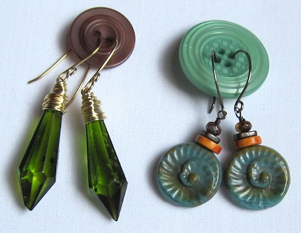 Using Buttons for Earring Packaging