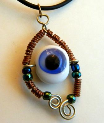 Eye of Horace Amulet-Necklace by R.E. Blake