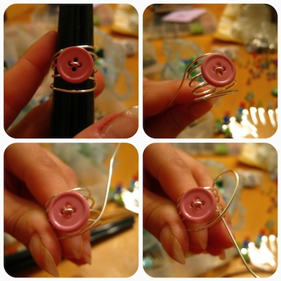 jessica curry wire wrap button ring 3