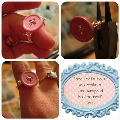 jessica curry wire wrap button ring 5