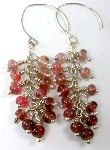 tourmaline earrings with argentium ball pins