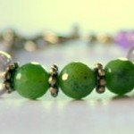 Vineyard Amethyst and Faceted Jade Bracelet.