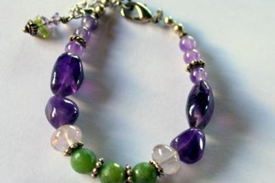 Vineyard Amethyst And Faceted Jade Bracelet Jewelry