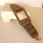 Willow Creek Square Cut Jasper Embroidered Bracelet