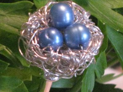 Wire Wrap Bird's Nest Hair Stick