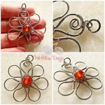 Wire Wrapped Floral Pendants