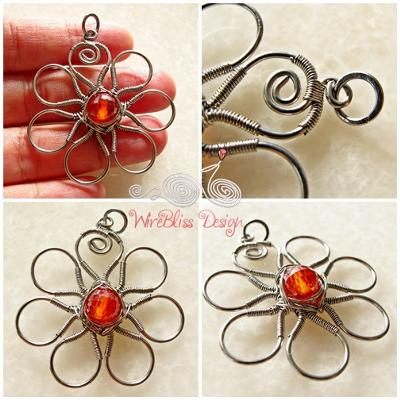 Wire Wrapped Floral Pendants — Jewelry Making Journal