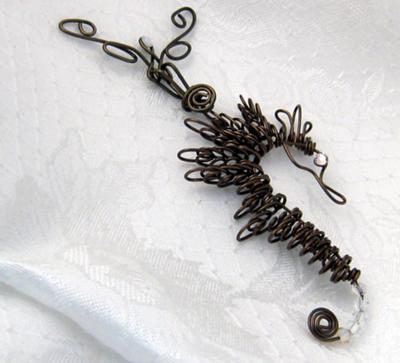 Wire Wrapped Seahorses