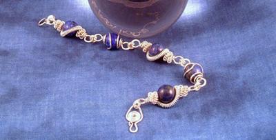 Wired up Lapis Lazuli Bracelet