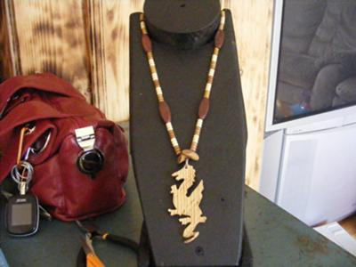 Wooden Dragon Pendant