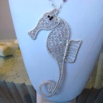 Woven sterling silver Seahorse