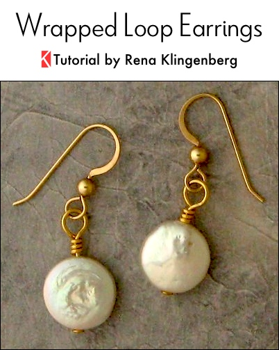 Wrapped Wire Loop Earrings - tutorial by Rena Klingenberg