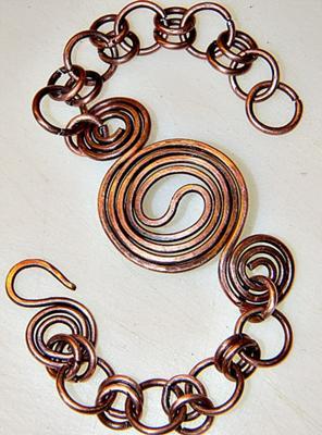 Yin Yang Copper Bracelet