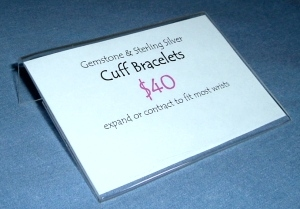 Acrylic Sign Holder for My Jewelry Booth Signs
