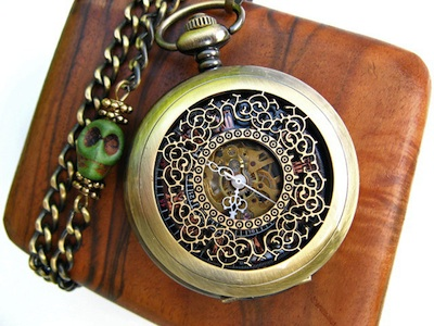 Airship Pirate Pocket Watch - Camille and Bill Williams