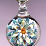 Glass Flower Pendant