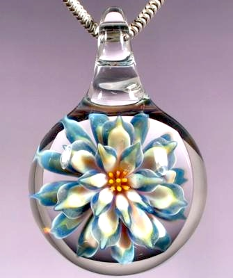 Glass flower pendant jewelry making journal glass flower pendant aloadofball Gallery