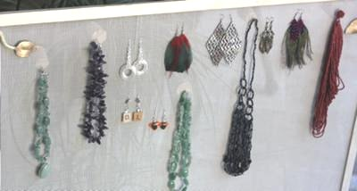 Antique Fireplace Screen Makes a Great Jewelry Display