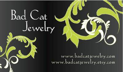 Bad Cat Jewelry Business Card Jewelry Making Journal