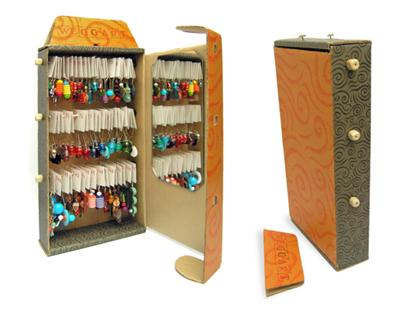 Cardboard Box Earring Display Jewelry Making Journal