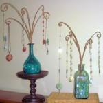 Colorful Glass Bottle Necklace Display