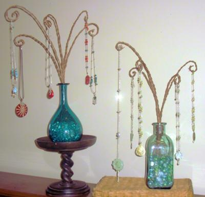Colorful glass bottle necklace display jewelry making for Jewelry displays