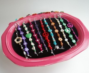 Colorful Shabby Chic Boutique Style Bracelet and Ankle Bracelet Display