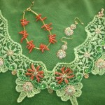 Green Lace and Coral