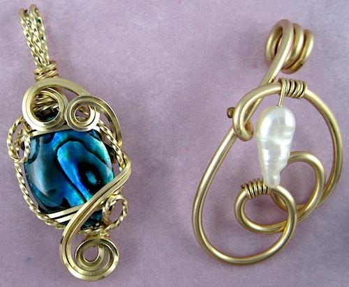 wire pendants by Rena Klingenberg