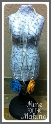 Mod Podge Necklace Stand