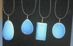 Black Necklace Display Makes Opalite Glow
