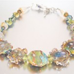 Ruffled Handmade Glass Bead Necklace