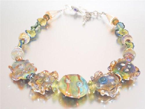 ruffled handmade glass bead necklace jewelry journal