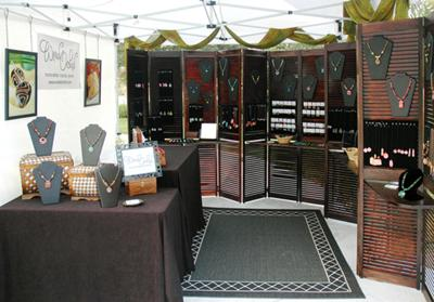Wired Orchid Craft Show Booth Jewelry Making Journal
