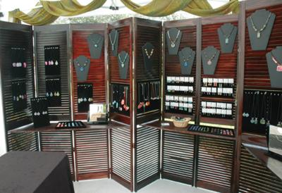 Wired Orchid Craft Show BoothShutters Only Jewelry