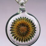 Blown Glass Dot Implosion Pendant