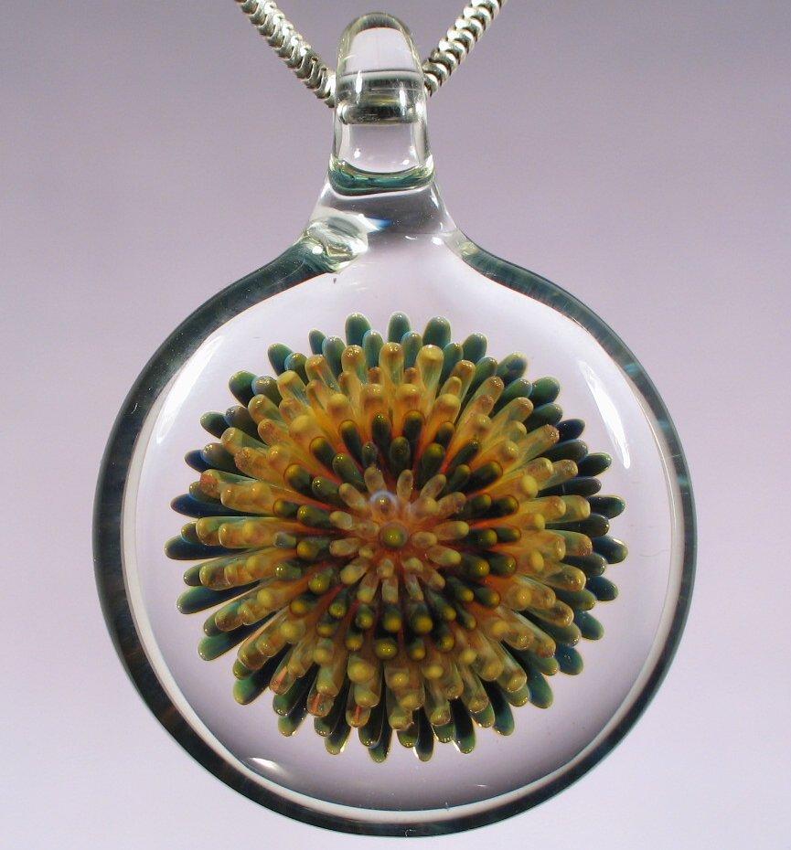 Blown Glass Dot Implosion Pendant