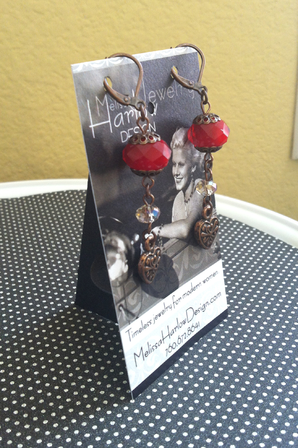 Earring Display Card Stands