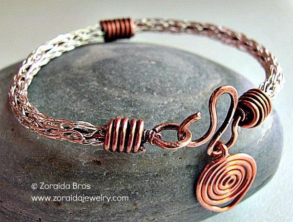 Zoraida Bronze Viking Knit Bracelet Jewelry Making Journal