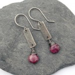 Ruby Grunge Earrings
