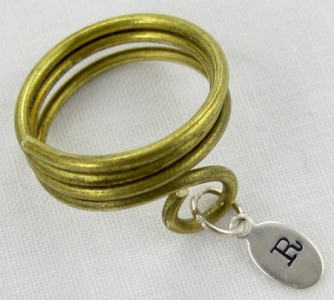 Adjustable Monogram Ring Tutorial