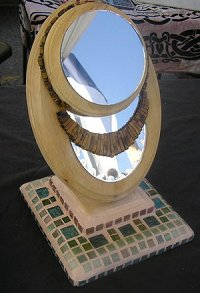 Mosaic and Wood Jewelry Displays